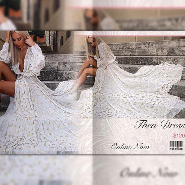 dress, lost souls, white dress, angel dress, white gowns, white maxi ...