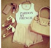 tank top,white tank top,pardon my french