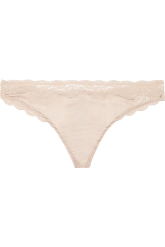 thong lace silk rose underwear