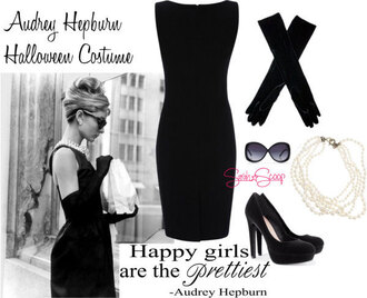 dress audrey hepburn black dress breakfast at tiffany's