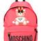 Moschino - toy bear print backpack - women - polyurethane - one size, pink/purple, polyurethane