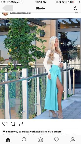 dress blue dress open front open leg