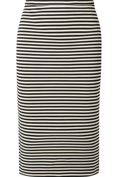 Max Mara - Striped Stretch-knit Pencil Skirt - Black