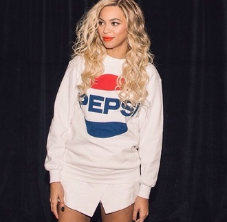 pepsi beyonce skirt white jumper