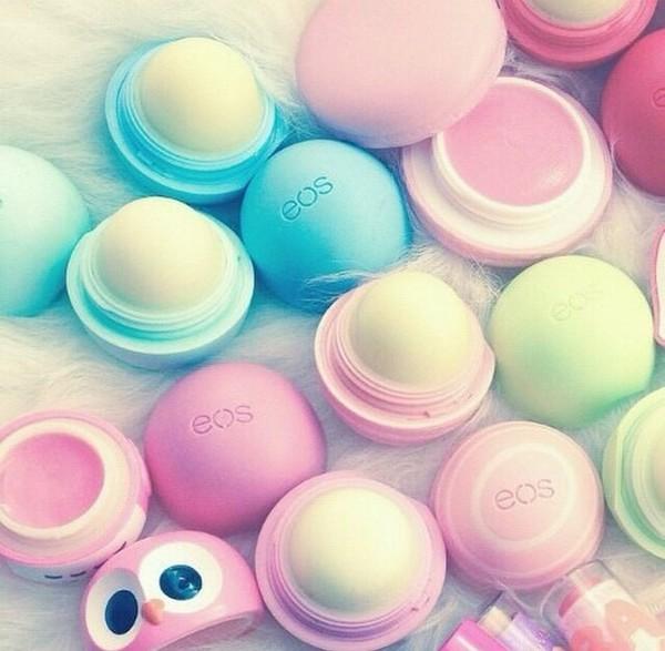 make-up lip balm eos make-up pastel