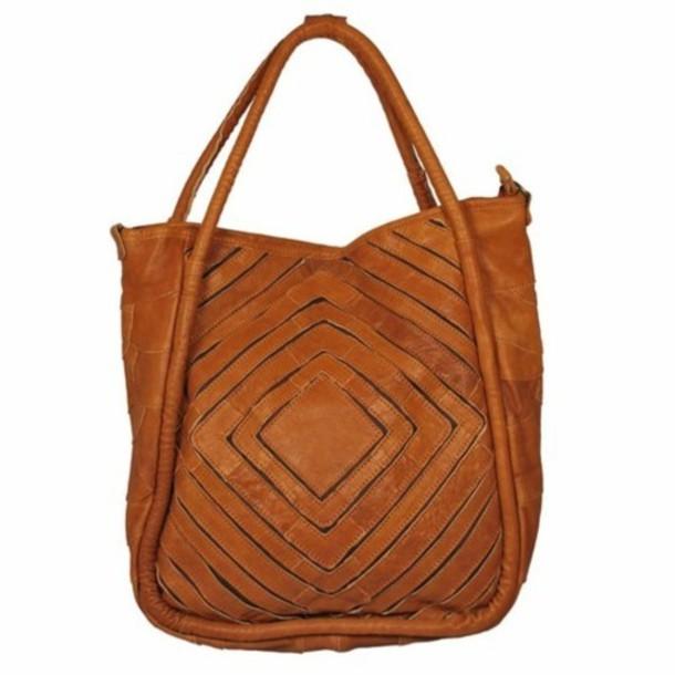 bag shoulder leather camel