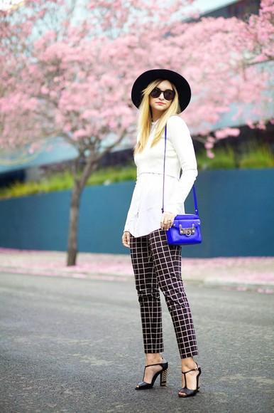 late afternoon pants hat shoes bag sunglasses jewels