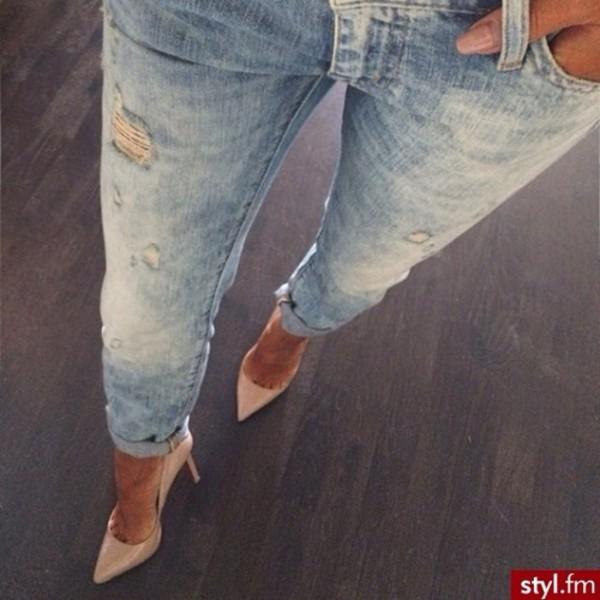 shoes jeans jean boyfriend d?chirer