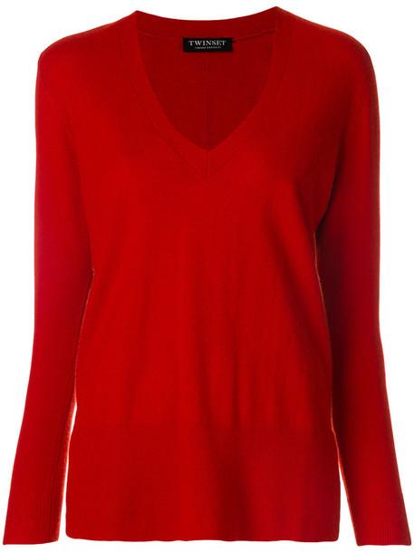 Twin-Set jumper women wool red sweater