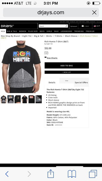 t-shirt rich homie quan