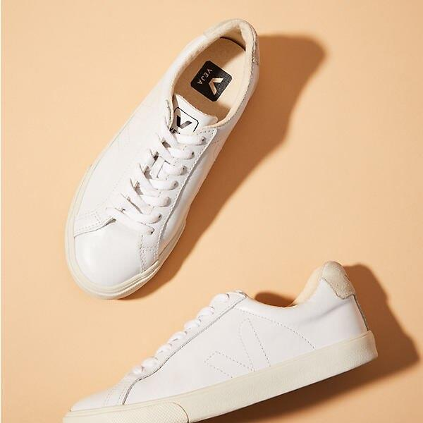 Veja Esplar Leather Extra White Pierre Natural Puxador