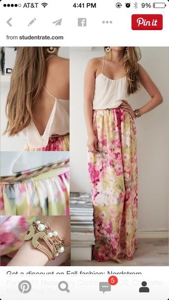 dress dress maxi floral skirt