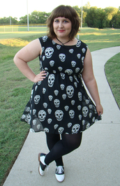 dress,plus size,skull