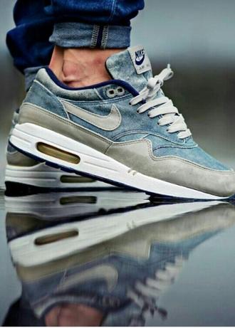 shoes menswear sports shoes nike air nike air max nike air max 90 denim denim trainers sneakers kicks