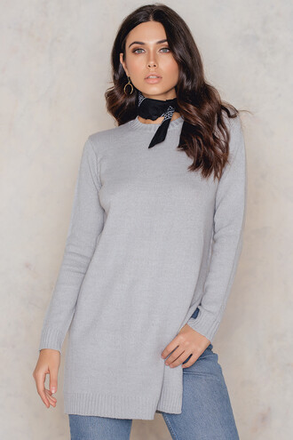 sweater knitted sweater slit