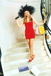 dress,alicia silverstone,clueless,90s style,red,mini,tight,bodycon,short,cher horowitz