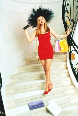 dress alicia silverstone clueless 90s style red mini tight bodycon short cher horowitz