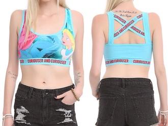 top alice in wonderland bra bra pastel alice in wonderland sportswear sports bra