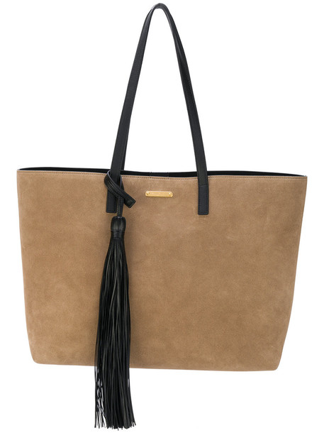 Saint Laurent - shopping tote bag - women - Leather - One Size, Brown, Leather