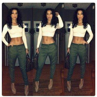 pants green skinny pants green pants full outfit greenish long pants