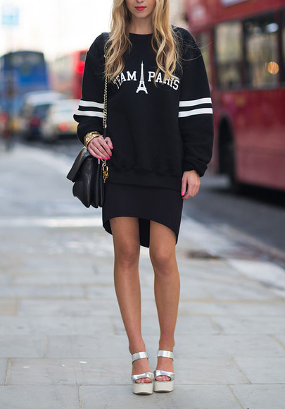 clothes streetstyle streetwear jumper i4out sweater look lookbook team paris oversized sweater
