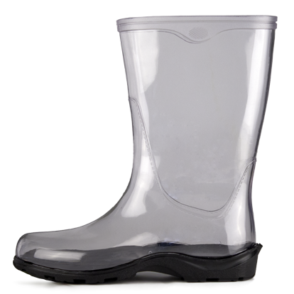 Amazing WOMENS LADIES FLAT CLEAR FESTIVAL JELLY WELLIES LOW ANKLE RAIN BOOTS