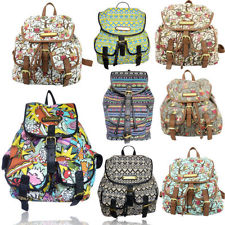 Anna Smith Vintage Owl Print/Strip Print/ Multi-Food Print Rucksack/Backpack | eBay