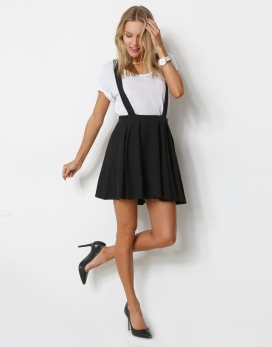 SKATER SKIRT WITH SUSPENDERS - SKATER SKIRT WITH CROSS BACK OVERALLS - Jumpsuits