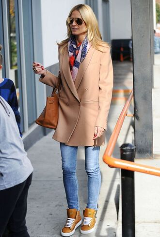 shoes sneakers heidi klum camel camel coat fall outfits