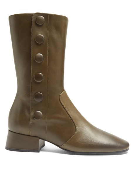 leather ankle boots ankle boots leather khaki shoes