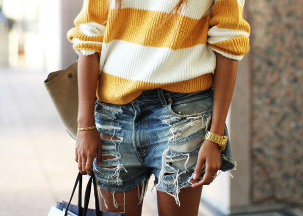 Shorts: denim, ripped jeans, jeans, ripped, ripped shorts, denim ...