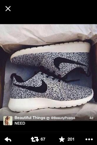 shoes nike roshe speckled