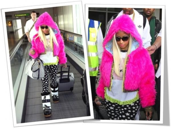 Wanted: Nicki Minaj Pink Fur Hood Jacket
