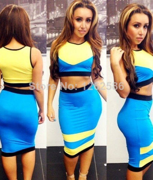 New Arrival 2014 Summer Women Sexy Bodycon Dress Sleeveless Evening Party Bandage Dresses Hollow Out Patchwork Club Dress | Amazing Shoes UK