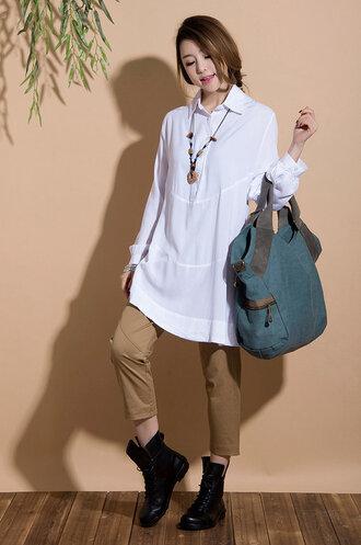 shirt cotton shirt cotton shirts irregular choice white shirt
