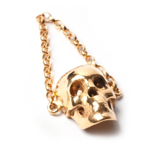Skull Chain Ring - Gold | LeiVanKash - Jewellery