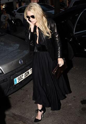 black tie up suede shoes ribbon leather chiffon ashley olsen skirt