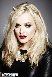 jewels,fearne cotton,leather,dress,black dress,necklace,hair accessory,devil horns,gold,diamanté,editorial