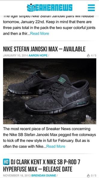 shoes nike black blue tiger print