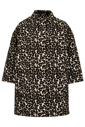 Animal Print Coat - Jackets & Coats  - Clothing  - Topshop