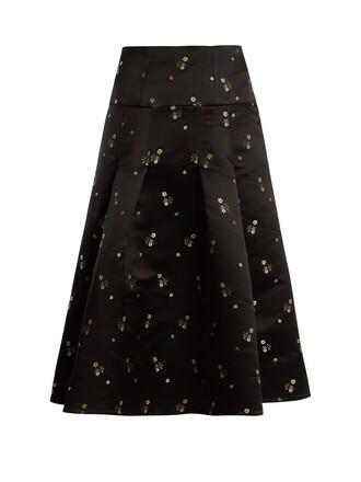 skirt satin black