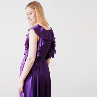 dress evening dress prom dress formal dress violetta silky silky dress purple purple dress special occasion special occasion dress summer summer dress oversized spring