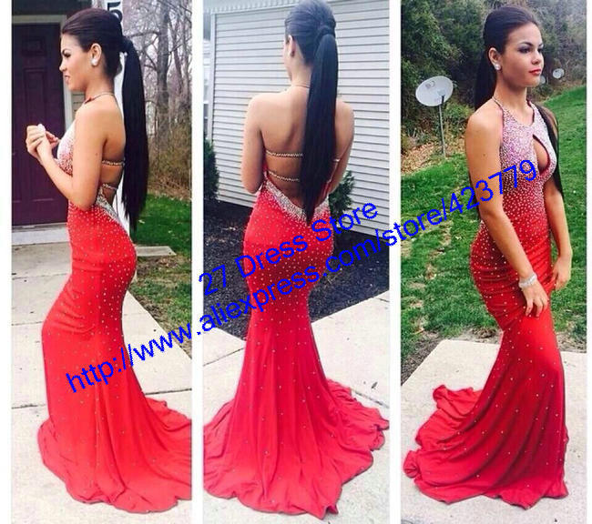 Aliexpress.com : Buy Sparkly Crystal Beaded Designer Homecoming Dress 2014 Sexy Spaghetti Straps Backless Long Prom Dresses from Reliable dress suit size chart suppliers on 27 Dress