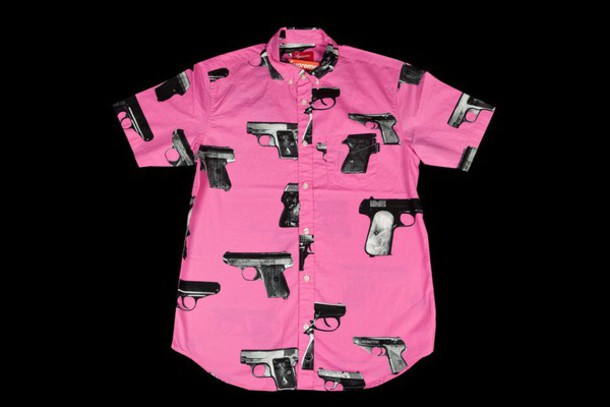 shirt supreme gun shirt