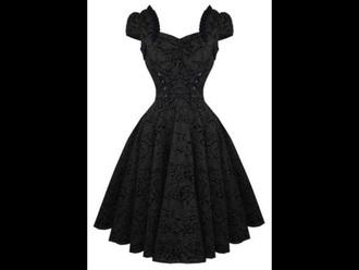 dress black goth black dress patterned dress