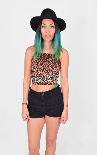 top leopard print print crop tops cropped strappy short shirt ootd summer festival hippie boho punk streetwear tank top printed top