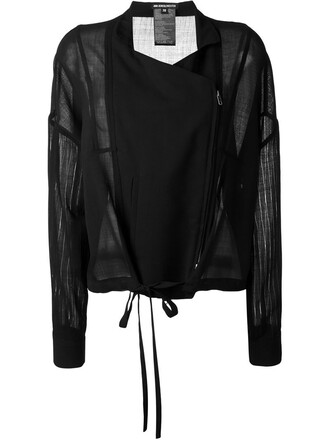 jacket sheer black
