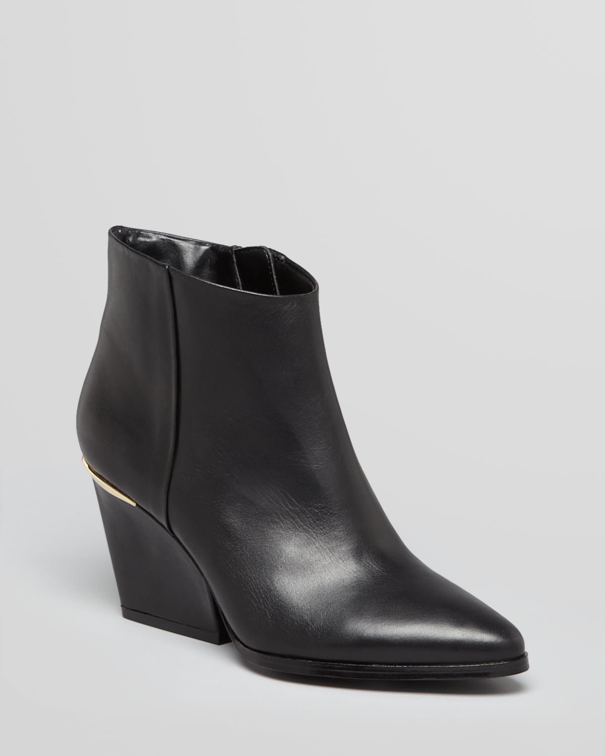 9 Pointed Toe Wedge Booties - Isoke Low Heel | Bloomingdale's