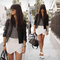 Hot women wrap mini casual skort skirt irregular laminated flanging culotte o