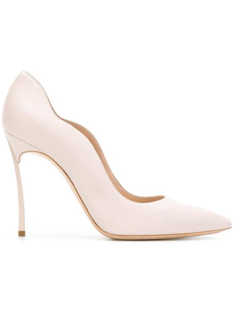 CASADEI women pumps leather purple pink shoes